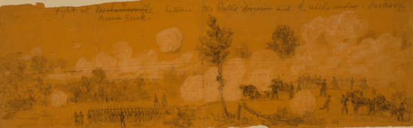 Battle sketch by Alfred Waud | Image Credit: Wikipedia