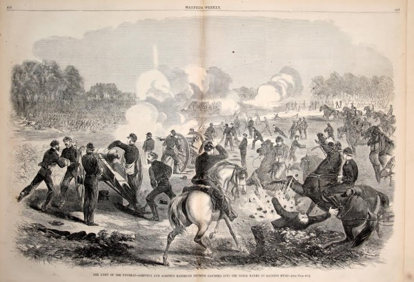 Federals repulsing Confederate attacks at Gaines's Mill | Image Credit: CivilWarDailyGazette.com