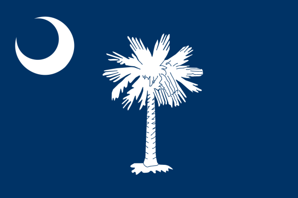 The South Carolina Flag | Image Credit: Wikipedia.org