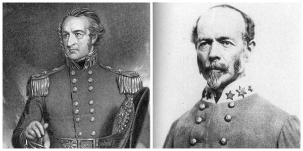 Federal Gen Robert Patterson and Confederate Gen J.E. Johnston | Image Credit: Wikipedia.org