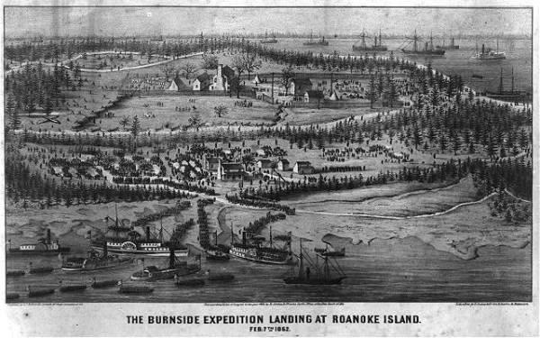 The Roanoke Island Landing | Image Credit: learnnc.org