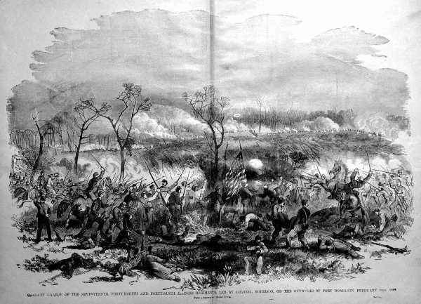 Federal attack on Fort Donelson | Image Credit: CivilWarDailyGazette.com