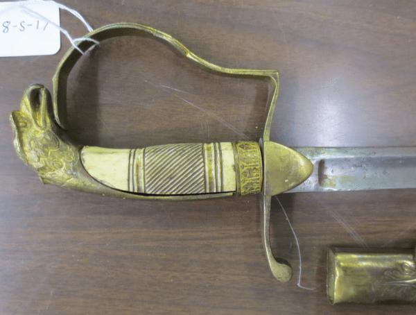 old sword handle