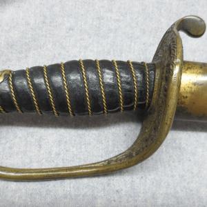 Zoomed in sword's grip