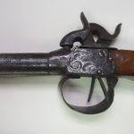 Stylish double barrel pistol