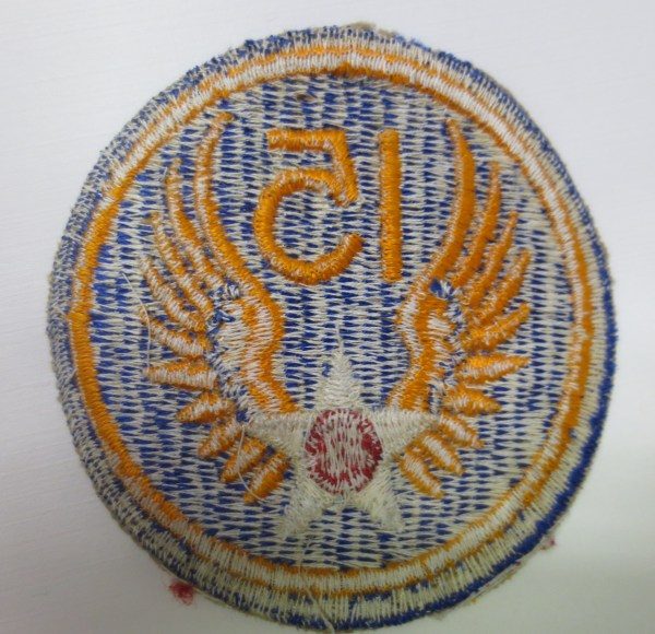 Back portion of the round blue patch