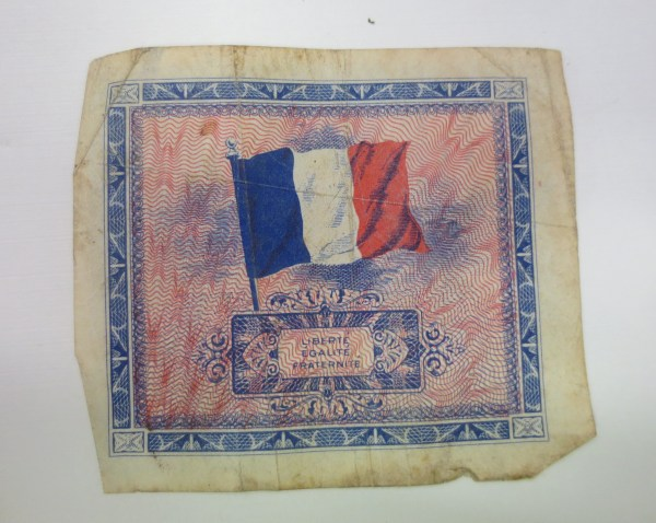 Old square sheet of currency