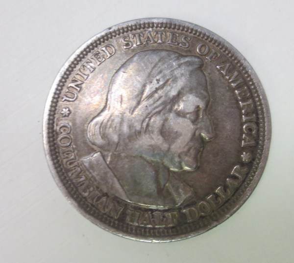 US Columbian silver coin of 1893