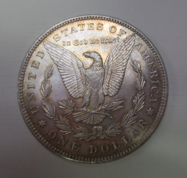 US Silver dollar showing a bird