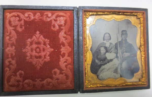 Family photograph inside the frame
