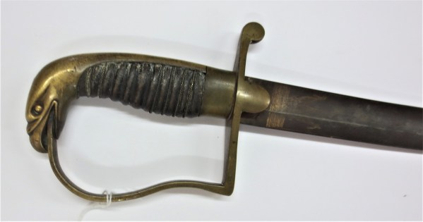 snake-like design on sword handle