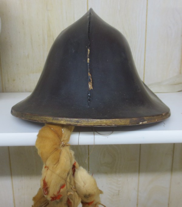 war helmet with ties