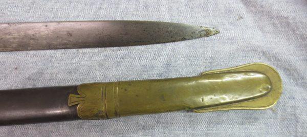 sharp tip of the sword