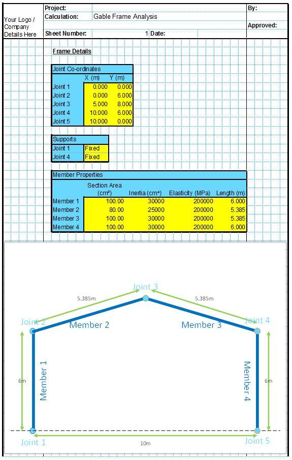 Steel Portal Frame Design Spreadsheet | Frameswalls org