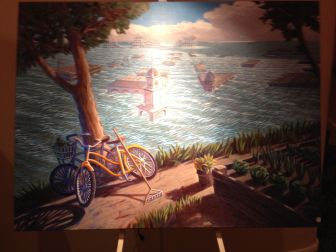 """Some of the artwork on display at """"Water For Santa Cruz County"""" a short film by local Scott McGilvray which showed Tuesday at the Rio Theatre."""