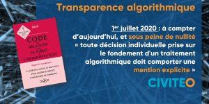 Transparence algorithmique