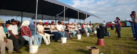 Farmworkers receive worker-to-worker education under the Fair Food Program