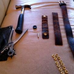 Diy Leather Belt Chair Desk Platform Making Use Of That Old Bracelet