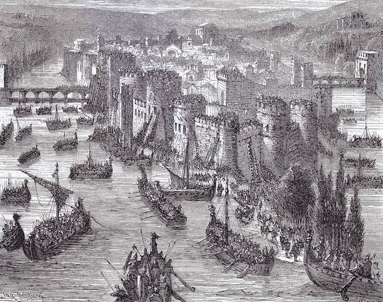 Viking Siege Of Paris 845 A.D.