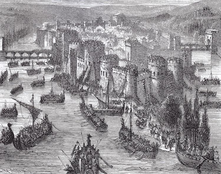 Viking Siege of Paris 845 A.D.