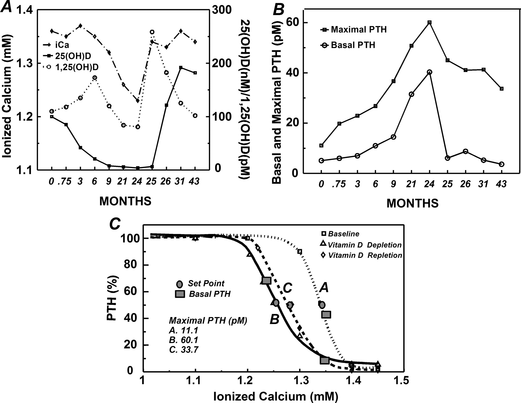 Dynamics of Parathyroid Hormone Secretion in Health and