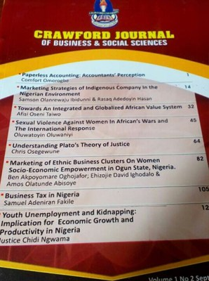 Crawford Journal of Business and Social Sciences