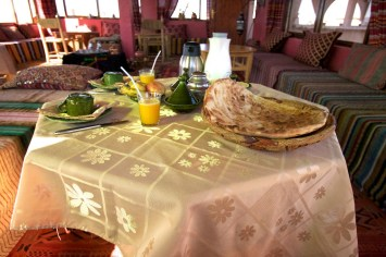 Our excellent breakfast in the Kasbah.