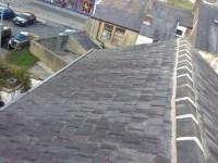 Resetting ridge tiles on a terrace - CJB Roofing