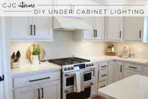 Diy Or Buy Under Cabinet Lighting Cjc Interiors