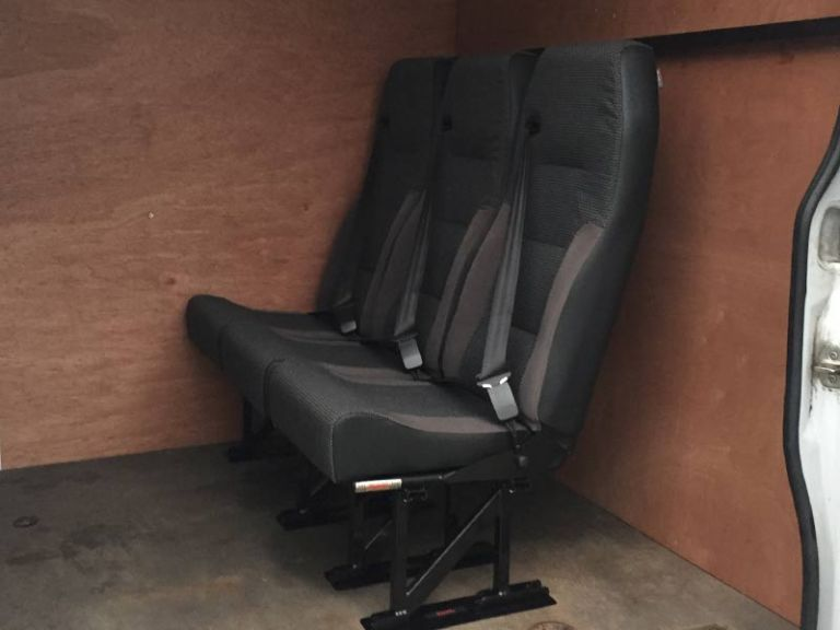 Rear Seat Conversion for Commercial Vehicles