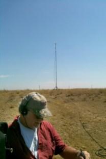 Making distant contacts via ham radio