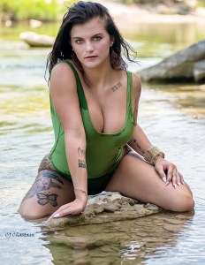 2019 Olivia Harris in the Paluxy River by photographer Clint Chastain