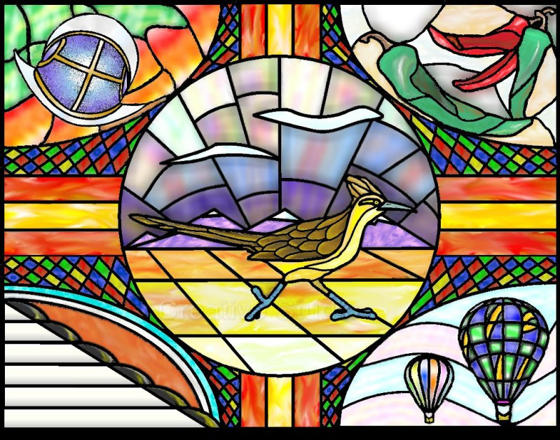 Stained Glass Zia
