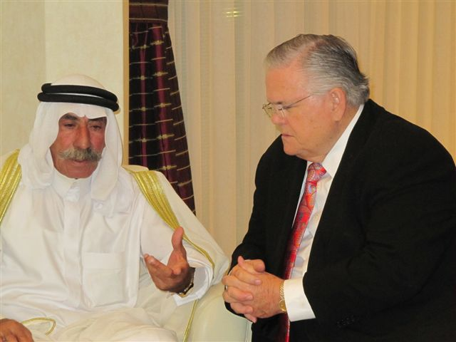 Pastor John Hagee Hosts Shiekh Ja'abari in Jerusalem with