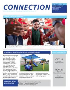 September 2018 Connection Parent Newsletter