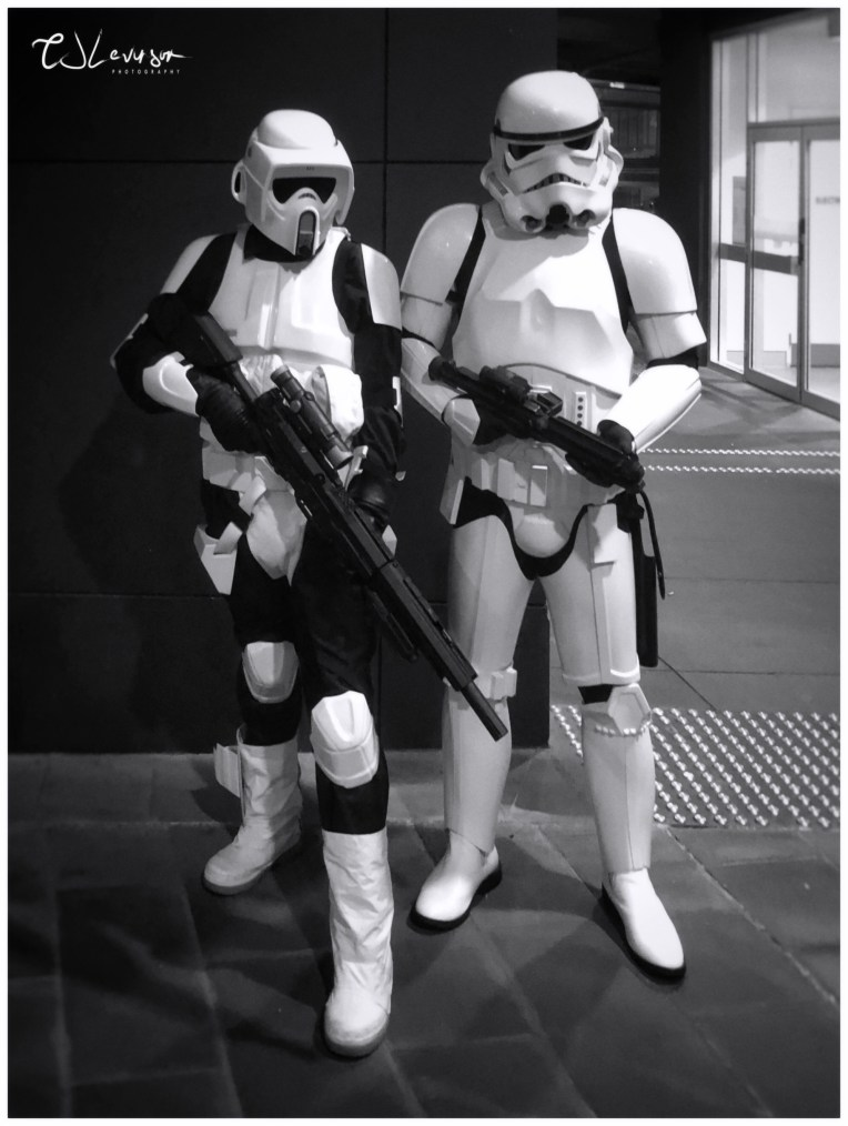 Stormtroopers in Black and White