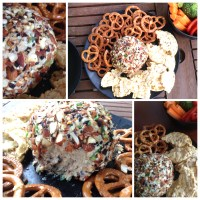 {You'd Never Believe It's Not Real Cheese} Garlic and Sun-dried Tomato 'Cheese-Ball'