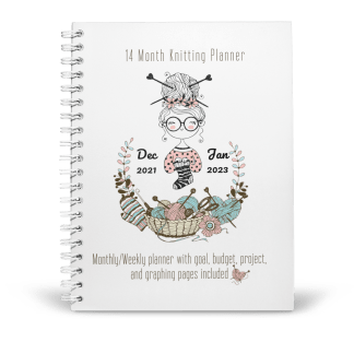Cover image of 2022 knitting planner