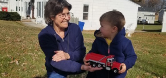 Photo of Cydney with her grandson