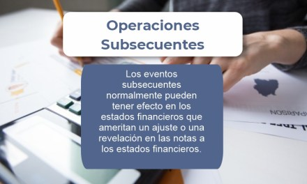 EVENTOS SUBSECUENTES