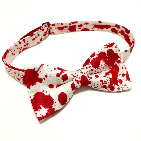Blood Splatter Bow Tie