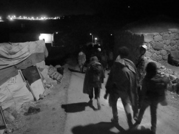 Part of the group evacuating to avoid confrontation with the army. The next day the group rebuilds, shifting our attention to rehabilitating the cave dwellings.