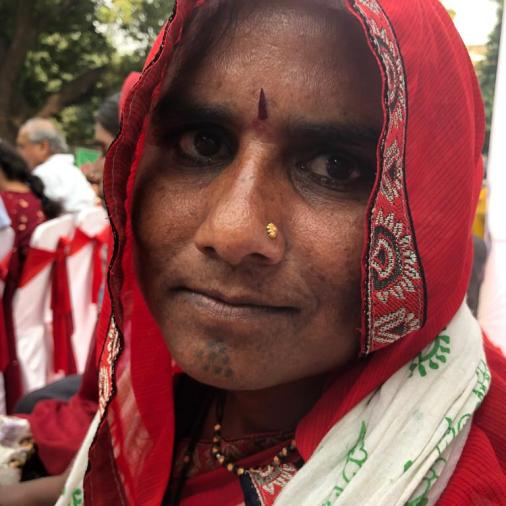 Riyalibai from Burhanpur, Madhya Pradesh — Jagrut Adivasi Dalit Sanghatana.