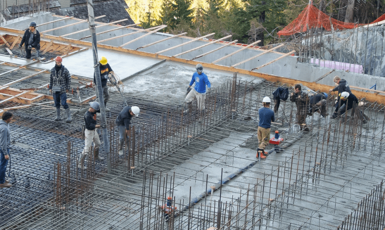 large rebar crew for a big job