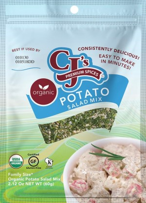Best Potato Salad, CJ's Organic Potato Salad Mix, Organic Potato Salad Mix