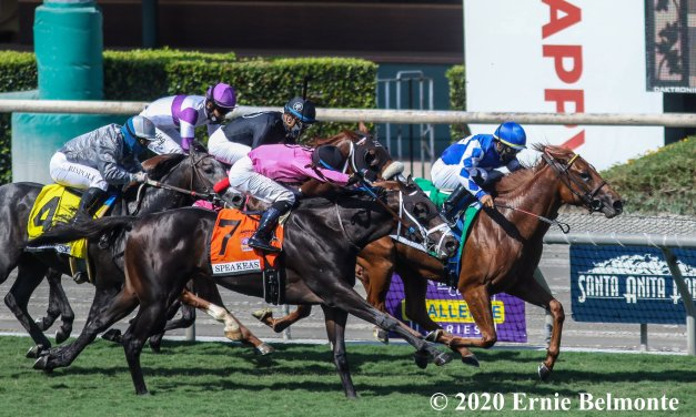 Amanzi Yimpilo Rallies to Win $100,000 Speakeasy Stakes