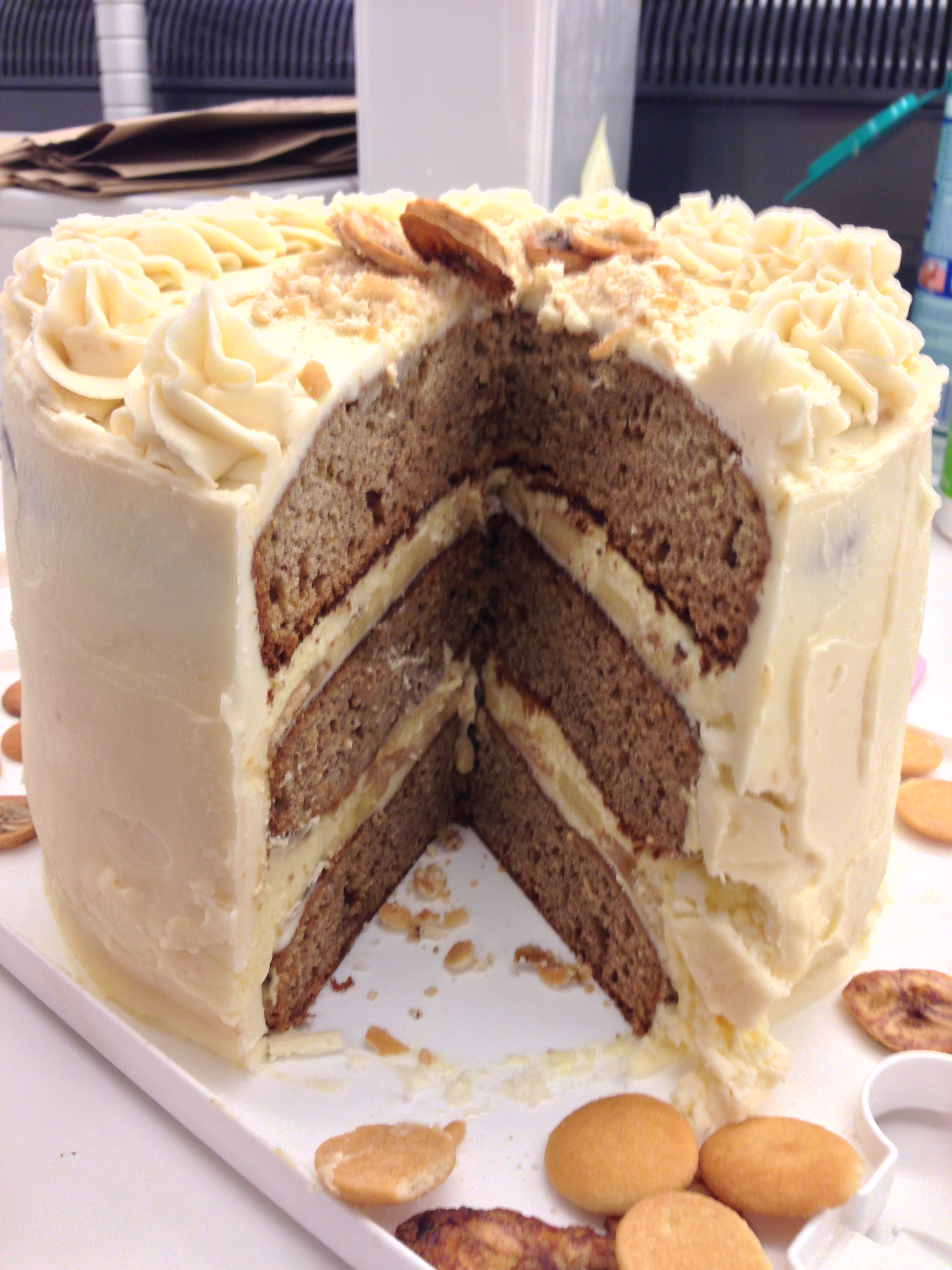 Chelsweets Banana Pudding Birthday Cake Chelsey White