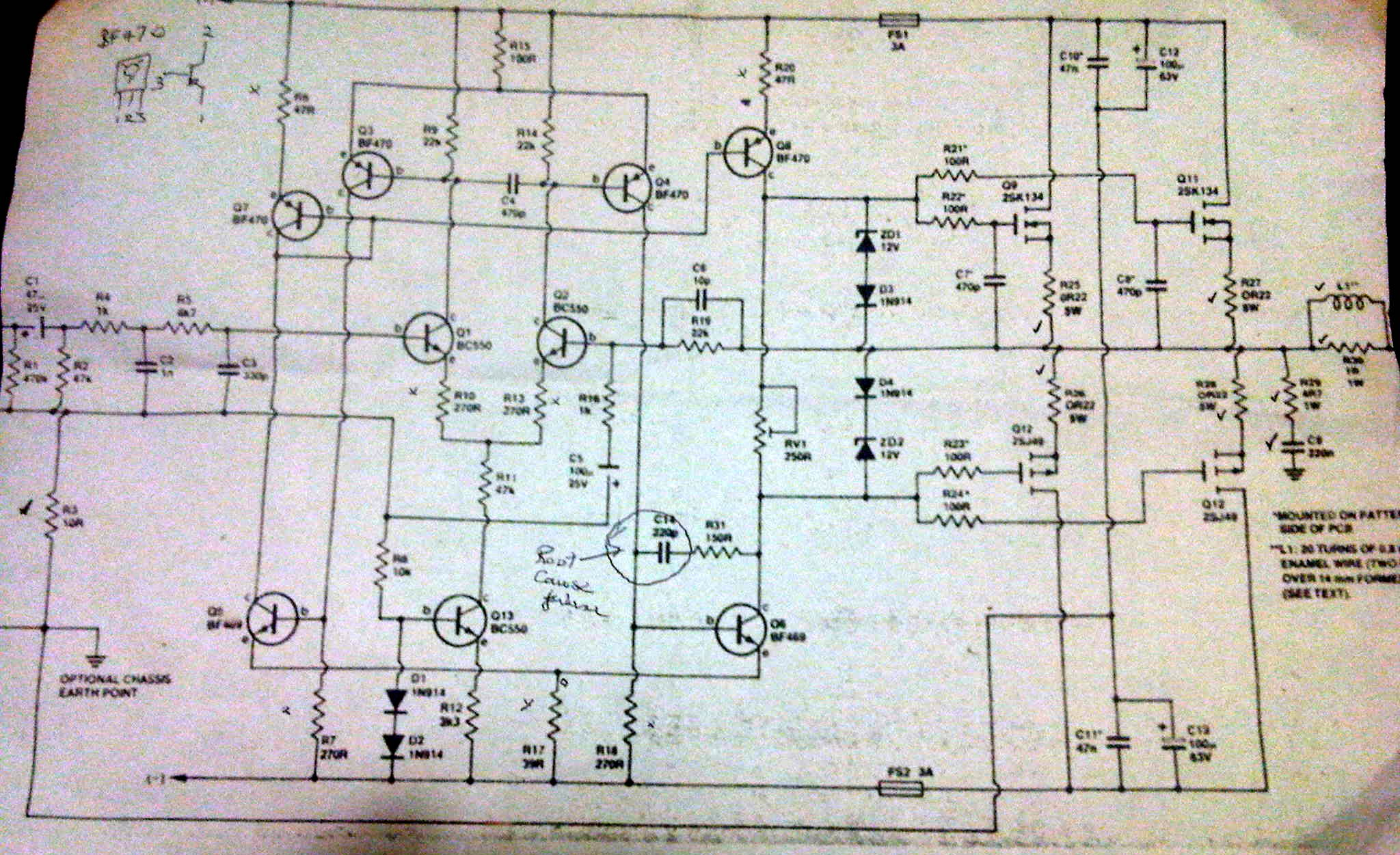 5000 watt amplifier circuit diagram sodium light ballast wiring fixing the eti 477 100w audio amp module  blogubarra