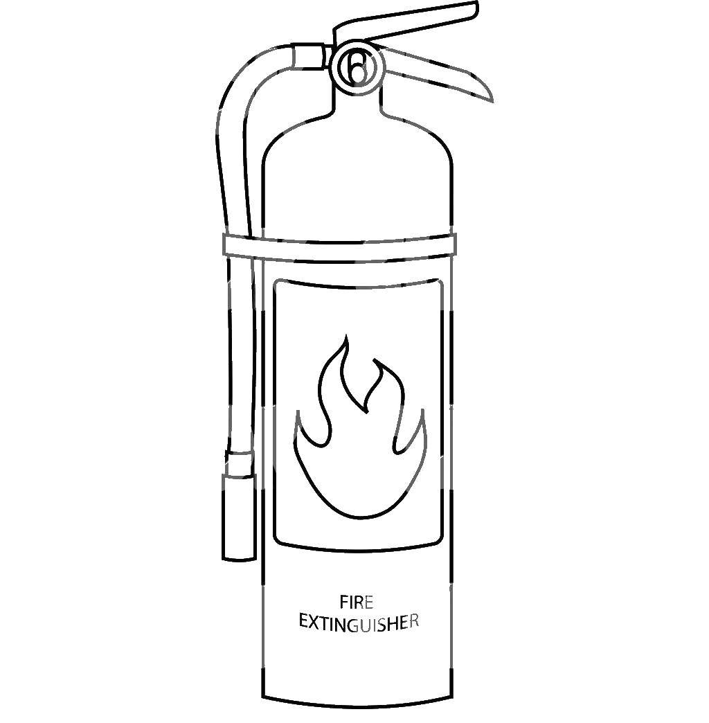 Online coloring pages extinguish, Coloring page A fire