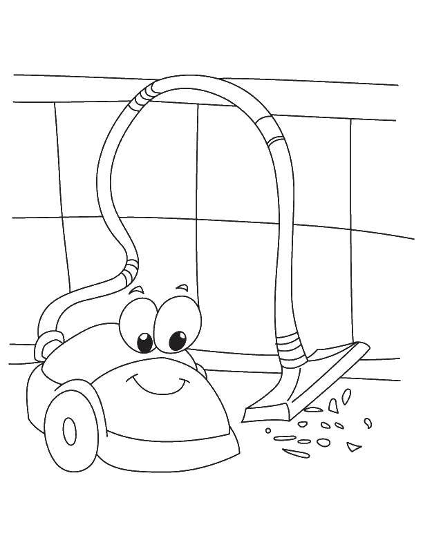 Online coloring pages Coloring page Vacuum cleaner